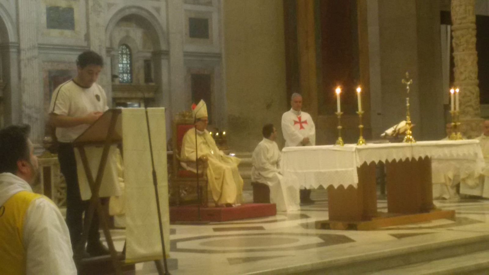 The Holy Mass In St. Paul Outside the Walls with S.E. Mons. Lojudice