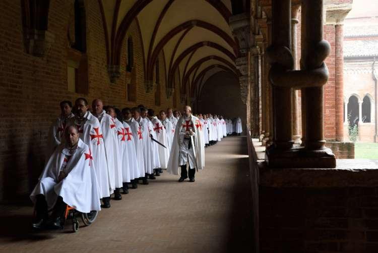 Templari al ritiro spirituale