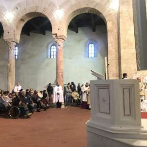 The Bishop Monsignor Francesco Oliva at the Solemn Chrism Mass in the Cathedral of Santa Maria Assunta in Gerace (RC) – March 2018
