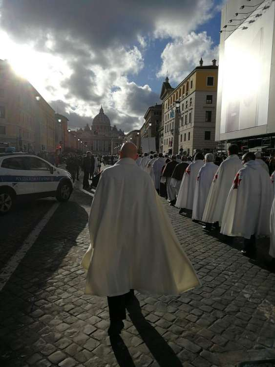 Templari verso il Vaticano durante il ritiro spirituale del 17-18 marzo 2018