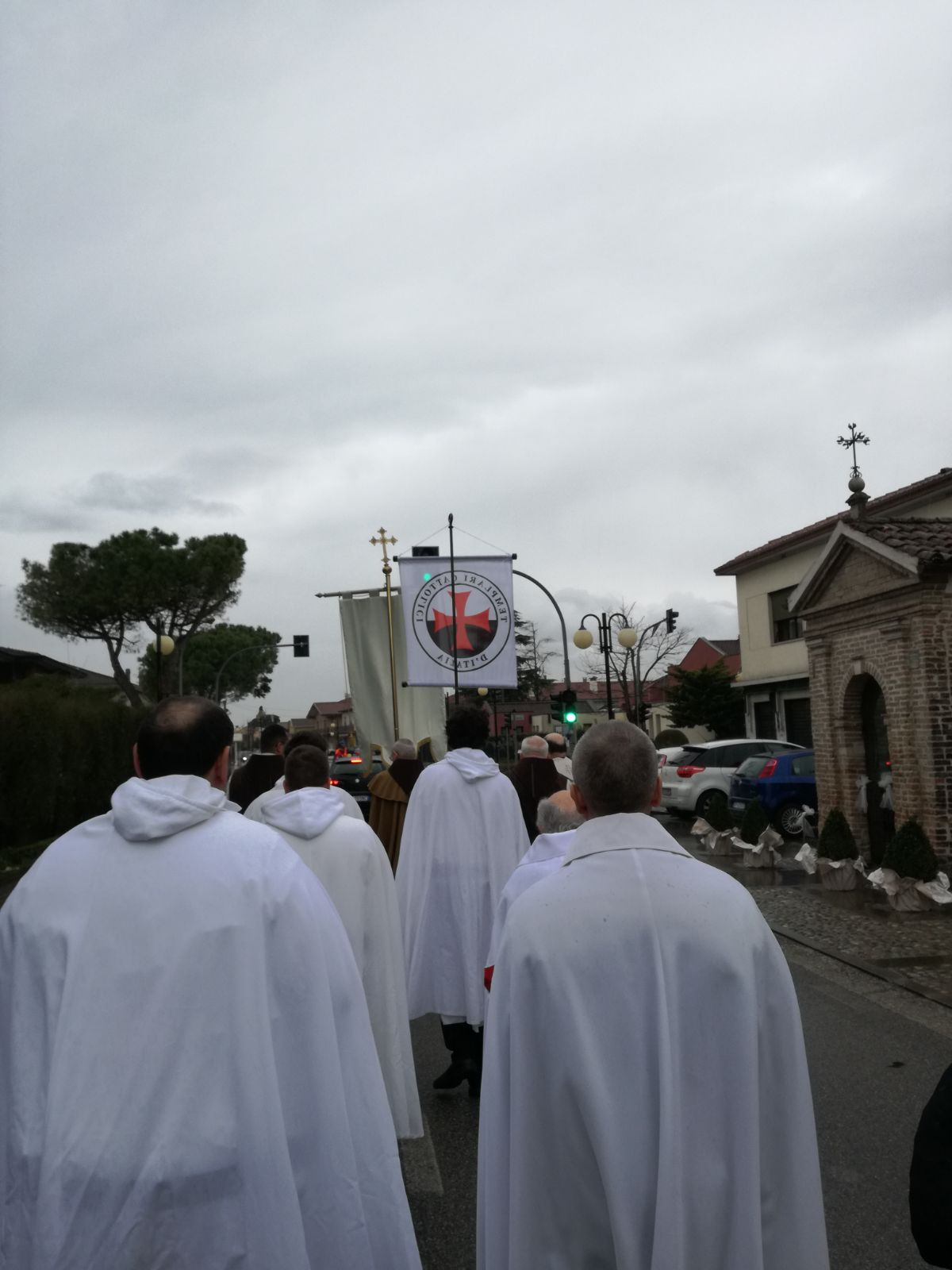 I Templari Cattolici d'Italia partecipano alla processione e Santa Messa solenne presieduta dal vescovo emerito Sua Eccellenza Monsignor Dino De Antoni a Borbiago di Mira.
