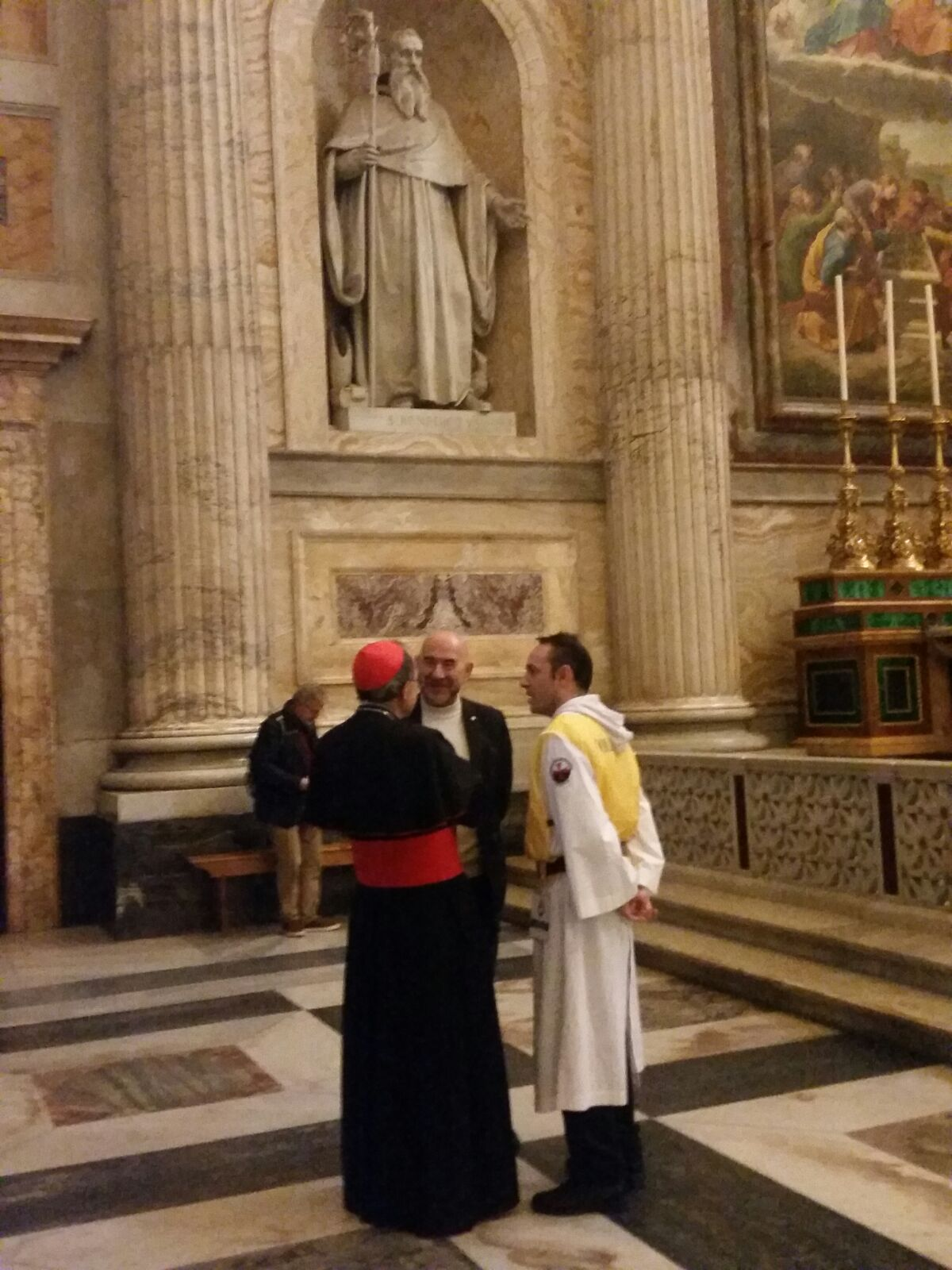 Catholic Templars of Italy with the Primate of Gauls in the Papal Basilica of Saint Paul Outside the Walls